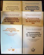 ERSTTAGSBLATT-JAHRESSLG. Js 1-6 BRIEF, 1985-90, Alle 6 Jahressammlungen Komplett, Die Schuber Teils Etwas Angestoßen, Di - FDC: Hojas