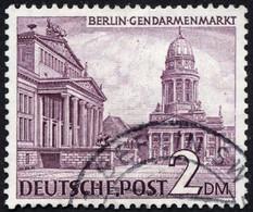 BERLIN 58X O, 1949, 2 DM Bauten, Wz. 1X, Pracht, Mi. 300.- - Used Stamps