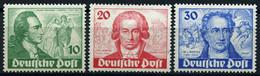 BERLIN 61-63 **, 1949, Goethe, Prachtsatz, Mi. 320.- - Used Stamps