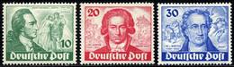 BERLIN 61-63 **, 1949, Goethe, Prachtsatz In Normaler Zähnung, Mi. 320.- - Used Stamps