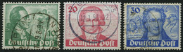 BERLIN 61-63 O, 1949, Goethe, üblich Gezähnter Prachtsatz, Mi. 180.- - Used Stamps