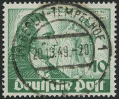 BERLIN 61 O, 1949, 10 Pf. Goethe, Ideal Gestempelt, Pracht, Mi. 70.- - Used Stamps