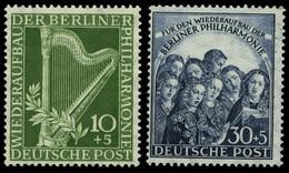 BERLIN 72/3 **, 1950, Philharmonie, üblich Gezähnt Pracht, Mi. 150.- - Used Stamps