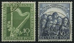 BERLIN 72/3 O, 1950, Philharmonie, Pracht, Mi. 130.- - Used Stamps