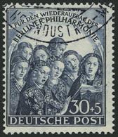 BERLIN 73 O, 1950, 30 Pf. Philharmonie, Pracht, Mi. 90.- - Used Stamps