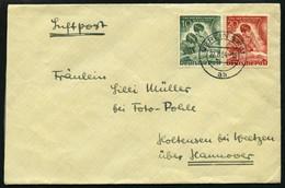 BERLIN 80/1 BRIEF, 1951, Tag Der Briefmarke Auf Brief Nach Hannover, Pracht - Used Stamps