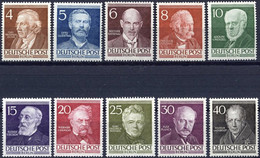 BERLIN 91-100 **, 1952, Berühmte Berliner, Prachtsatz, Mi. 130.- - Used Stamps
