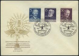BERLIN 92-94,96-100 BRIEF, 1952/3, Männer Der Geschichte, 6 Amtliche FDC`s, Meist Pracht, Mi. 324.- - Used Stamps