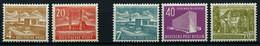 BERLIN 112/3,121-23 **, 1953, Bauten II Und III, 5 Prachtwerte, Mi. 200.- - Used Stamps