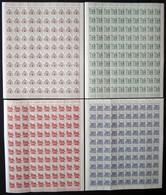 BERLIN 242-49 **, 1964/5, Bauten Im Bogensatz (100), 1x Gefaltet, Pracht, Mi. 3250.- - Used Stamps