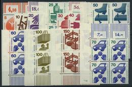 BERLIN 402-11,453 VB **, 1971, Unfallverhütung Mit Ergänzungswert, In Eckrandviererblocks (bis Auf 10 Und 30 Pf.), Teils - Used Stamps