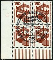 BERLIN 411A DZ VB O, 1972, 150 Pf. Unfallverhütung Im Eckrandviererblock Mit Randnummer 10, Sonderstempel, Pracht - Used Stamps