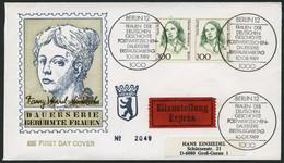 BERLIN 849 Paar BRIEF, 1989, 300 Pf. Hensel Im Waagerechten Paar Auf FDC Mit Eilzustellung Nach Groß-Gerau, Pracht - Used Stamps