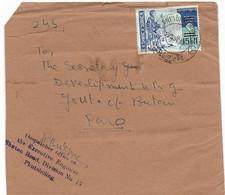 BHUTAN 1966, Bedarfsbrief Aus PHUNTSHOLING Mit Mi.Nr. 140 Frankiert, Selbstgefertigter Umschlag, Leichte Gebrauchsspuren - Bhután