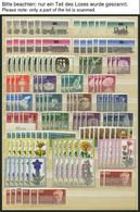 LOTS **, 1969-80, Saubere Dublettenpartie Kompletter Ausgaben, Meist 5-10x, Pracht, Mi. Ca. 3000.- - Used Stamps