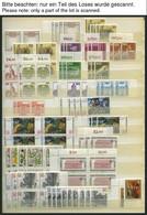 LOTS **, 1980-90, Saubere Dublettenpartie Kompletter Ausgaben, Meist 3-6x, Pracht, Mi. Ca. 2500.- - Used Stamps