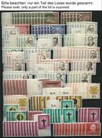 LOTS **, 1957-83, Saubere Dublettenpartie Kompletter Ausgaben, 4-15x, Fast Nur Pracht, Mi. Ca. 1300.- - Used Stamps
