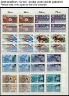 LOTS A. 641-875 VB **, 1981-90, 23 Verschiedene Komplette Sätze In Viererblocks, Pracht, Mi. 600.- - Used Stamps