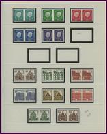 LOTS **, 1959-90, Partie Verschiedener Freimarken In Waagerechten Paaren, Prachterhaltung, Mi. 310.- - Used Stamps