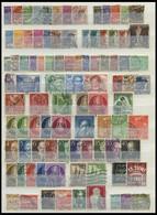 LOTS O, 1948-68, Gestemplte Partie Verschiedener Mittlerer Werte, Feinst/Pracht, Mi. 1300.- - Used Stamps