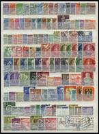 LOTS O, 1948-68, Kleine Gestempelte Partie Verschiedener Mittlerer Werte, Meist Pracht, Mi. 1000.- - Used Stamps