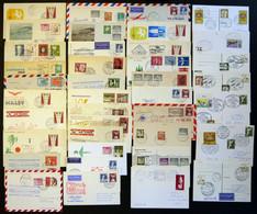 LOTS 1950-80, Interessante Partie Von 70 Verschiedenen Flugpostbelegen, Meist Sonder-u. Erstflüge, überwiegend In Pracht - Used Stamps
