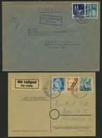 LOTS 1948/9, 8 Verschiedene Luftpostbelege Von Und Nach Westberlin, Meist Pracht - Used Stamps