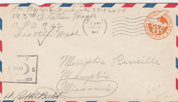 COVER. US ARMY POSTAL SERVICE. ARMY EXAMINER. 6 11 43 . APO 942 ANCHORAGE ALASKA - Cartas