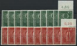 ENGROS 217/8 **, 1955, Westropa, 10 Prachtsätze, Mi. 160.- - Variétés