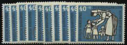 ENGROS 246 **, 1956, 40 Pf. Kinderpflege, 10 Prachtwerte, Mi. 150.- - Variétés