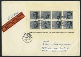 ENGROS Bl. 3 BRIEF, 1964, Block 20. Juli, 11x, Meist Auf Eilbriefen, Feinst/Pracht - Variedades