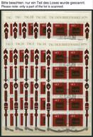 ENGROS 1023KB O, 1979, Tag Der Briefmarke Im Kleinbogen Mit Zentrischen Ersttags-Sonderstempeln, 20x, Pracht, Mi. 300.- - Variétés