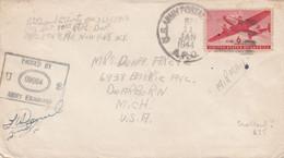COVER. US ARMY POSTAL SERVICE. ARMY EXAMINER. 11 1 44 . APO 874 LICHFIELD ENGLAND - Cartas