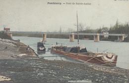 77 :  Ponthierry :  Pont De Sainte Assise , Péniche     ///  Ref.  Fév. 21 //   N° 15.039 - Saint Fargeau Ponthierry