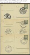 GANZSACHEN P 36 BRIEF, 1961, 8 Pf. Heuss Mit Postfachnummer Statt Postschließfachnummer, 9 Leer Gestempelte Karten Mit V - Sin Clasificación