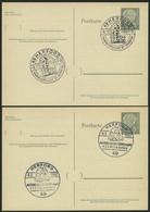 GANZSACHEN P 36 BRIEF, 1961, 8 Pf. Heuß Mit Postfachnummer Statt Postschließfachnummer, 2 Leer Gestempelte Karten Mit Ve - Sin Clasificación