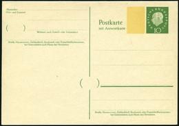 GANZSACHEN P 45I BRIEF, 1960, 10/10 Pf. Heuss, Breiter Fluoreszierender Beidruck, Ungebraucht, Pracht, Mi. 70.- - Sin Clasificación