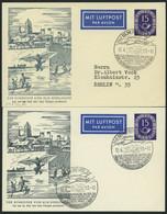 GANZSACHEN PP 4/3,3c BRIEF, 1953, Privatpostkarte 15 Pf. Posthorn, Der Schneider Von Ulm, Sonderstempel Schwarzgrau Und  - Sin Clasificación