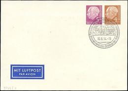 GANZSACHEN PP 12/1 BRIEF, 1954, Privatpostkarte 5 + 4 Pf. Heuß I, Sonderstempel, Pracht - Sin Clasificación