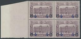 POSTPAKETMARKEN PP 7 VB **, 1933, 4 Fr. Auf 6 Fr. Hauptpostamt, Randviererblock, Postfrisch, Pracht, Mi. 360.- - Luggage