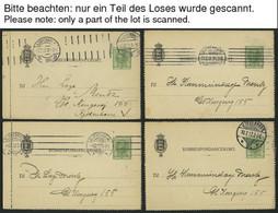 DÄNEMARK K 26 BRIEF, Ganzsachen: 1910, 5 Ø Kartenbrief, Gebraucht, 25x, Feinst/Pracht, Mi. 200.- - Used Stamps