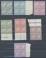 FRANZ.POST IN ÄGYPTEN P 6-13 VB **, Alexandria - Portomarken: 1928/30, 1 Mill. - 40 Mill. In Viererblocks, Fast Nur Vom  - Ohne Zuordnung