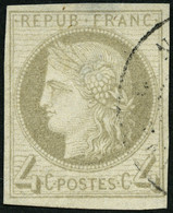 F.KOL ALLGEMEINE AUSGABEN 16 O, 1872, 4 C. Grau, Feinst (helle Stellen), Mi. 600.- - Ohne Zuordnung