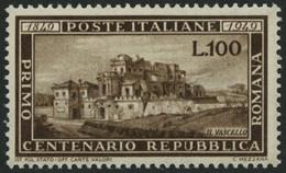 ITALIEN 773 **, 1949, 100 L. Republica Romana, Pracht, Mi. 300.- - 1946-60: Mint/hinged