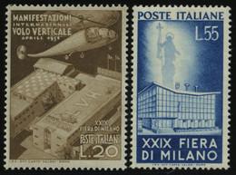 ITALIEN 830/1 **, 1951, Mailänder Messe, Pracht, Mi. 110.- - 1946-60: Mint/hinged