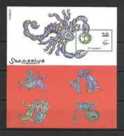 Somalia 1999 Signs Of The Zodiac MS MNH - Astrology