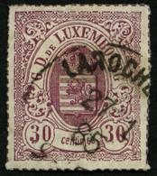 LUXEMBURG 21 O, 1871, 30 C. Lilarot, Pracht, Mi. 100.- - Officials