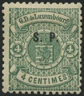 DIENSTMARKEN D 23I *, 1881, 4 C. Blaugrün S.P., Type I, Falzrest, Pracht, Gepr. Zumstein, Mi. 220.- - Officials