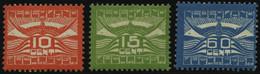 NIEDERLANDE 102-4 *, 1921, Flugpost, Falzrest, Prachtsatz - Unused Stamps