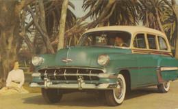 "1954 Chevrolet ""Bel Air"" Townsman Shoreline Beige Over Bermuda Green - Turismo"